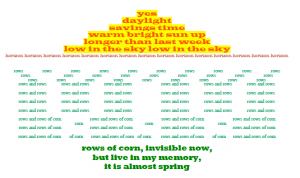 A picture poem by Mrs. Krebs